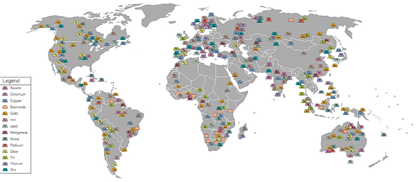 World Mining Map