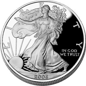 .999 ounces fine silver Liberty coin