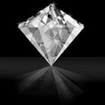 Perfectly cut diamond