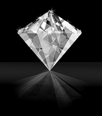 Perfectly cut diamond