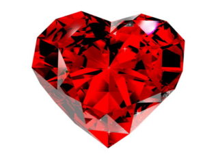red diamond 3d rendering