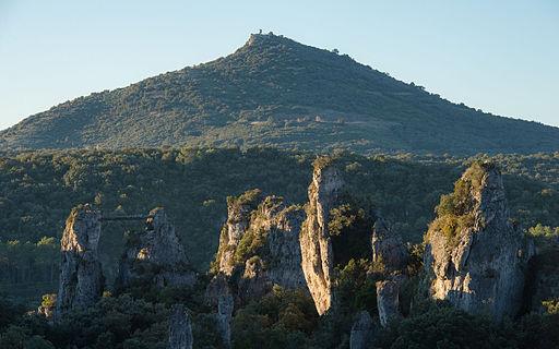 dolomitic rock in Cirque_de_Mourèze France