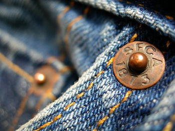 Image of Demin jeans copper button
