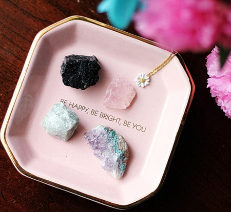 Tourmaline minerals in a box