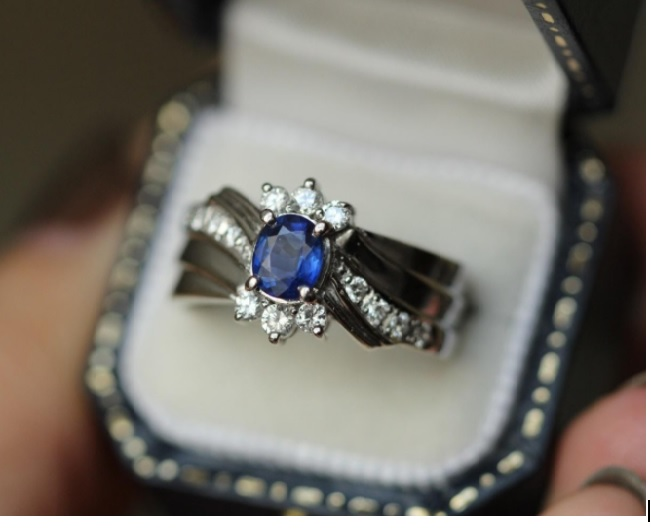 Sapphire in a ring