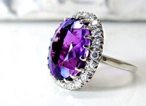Purple Amethyst in a ring setting