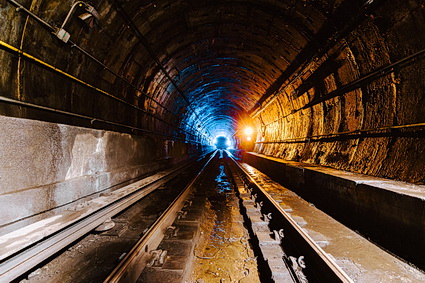 Subway tunnel construction in NYC