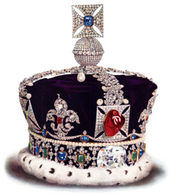 Crown with Black Prince's Ruby on top