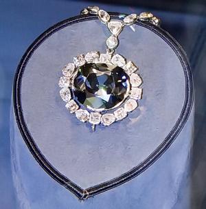 Hope Diamond in a Necklass