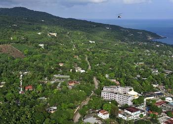 Birds eye view of Haiti