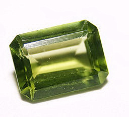Peridot Mineral in square form